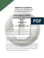 Plan de Gobierno Hugo Peralta Gomez