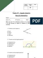 Prueba 1 Geometria Segundo Semestre