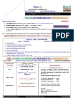 Aptitude Test 2012 (30 Mock Tests 15 Section Wise +15 Full Length )