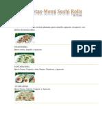 Recetas Sushi Rolls