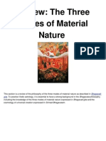 Review of the Three Modes of Material Nature