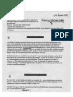 GÉNIE DES PROCÉDÉS D'ÉLABORATION ET DE TRAITEMENT DES MATÉRIAUX F. PATISSON ECOLE DES MINES 0