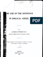 Use of the Infinitive in Biblical Greek--VOTAW