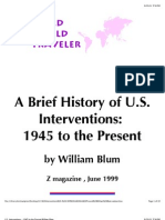 A Brief History of U.S. Interventions -- 1945 to the Present---William Blum