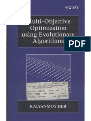 multi objective optimization using evolutionary algorithms by kalyan deb ebook
