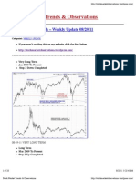 08/19/11 - Stock Market Trends &Observations