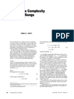 Knuth Song Complexity