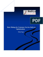 Data Mining for Customer Service