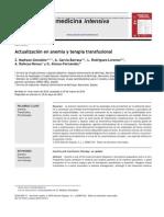 Actualización en anemia y terapia transfusional
