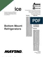 16025629 Maytag Amana Bottom Mount Refrigerator Service Manual