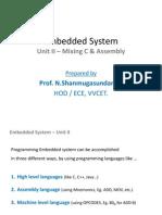 Embedded System - Unit II (Prepared by N.Shanmugasundaram)