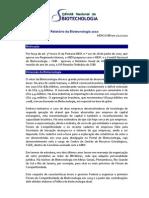 Comitê Nacional de Biotecnologia - Relatório 2010