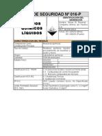101105 HDS Nº 016-P RESIDUOS QUÍMICOS LÍQUIDOS