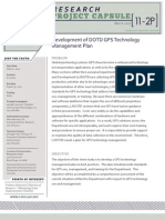 LTRC Capsule 11-2P Development of DOTD GPS Technology Management Plan