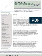 LTRC Capsule 11-3GT Accelerated Load Testing of Geosynthetic Base Reinforced Pavement Test Sections