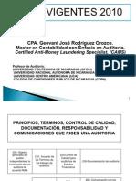 Normas Internacionales de Auditoria Vigentes 2010