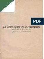 La Crisis Actual de la Arqueología