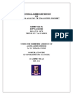 IIP REPORT on Fundamental Analysis on Indian Steel Industry