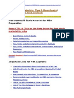 MBA Study Materials