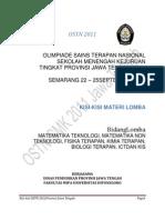 Kisi-Kisi OSTN SMK September 2011 Provinsi Jawa Tengah