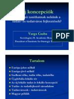 Új Koncepciók - Tudás- és Tudatváros Fejlesztések Üzenetei - Varga Csaba
