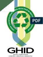 Ghid pentru organizarea colectarii selective in Institutiile Publice