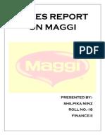 Sales Report on Maggi
