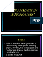 Nvh Analysis in Automobiles