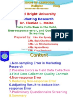 Chapter 14 Data Collection in the Field, Non-Response Error-NALYN