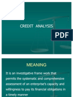 Credit Analysis- Meaning Etc