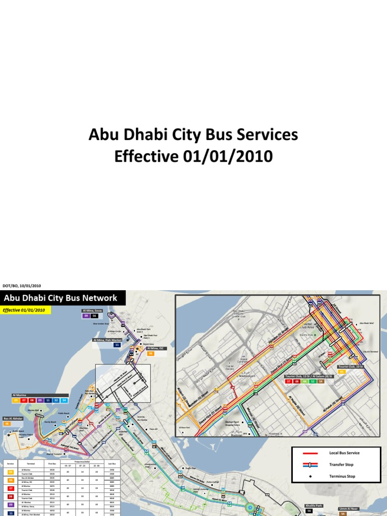 Bus Routes Abu Dhabi City United Arab Emirates Shopping Mall
