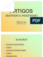 Artigos Definidos e Indefinidos