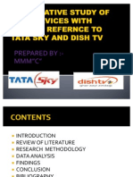 Comparative Study of Dth Services With Special Refernce