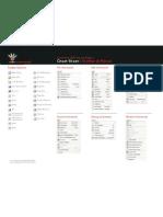 Cheat Sheet - VB Toolbar and Menus