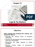 Chapter 6- Legal and Tax Matters