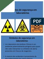 Símbolos de segurança em laboratórios