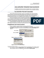 Excel Utilizarea macrocomenzilor
