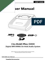 OHP6000 Manual