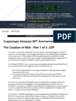 The Creation of NSA Part 1