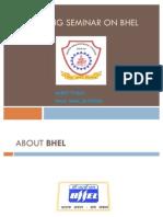 Summer Training Presentation in Bhel by Ankit Tyagi