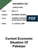 19255599 Current Economic Situation of Pakistan