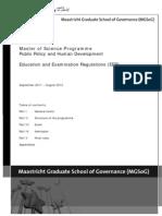 MPP Education and Examination Regulations 2011/12