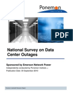 National Survey on Data Center Outages