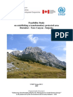 Durmitor Tara Canyon Sutjeska_UNEP Feasibility Study