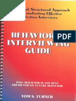 Tom S. Turner - Behavioral Interviewing Guide