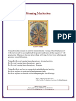 Morning Meditation by Bokar Rinpoche