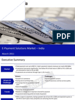 e Payment Solutions Market in India 2011 Sample 110311063243 Phpapp02