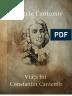 Viata Lui Constant In Cantemir - Dimitrie Cantemir
