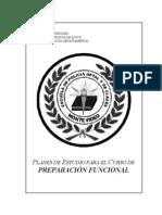 Planes de Estudios Para El Curso de Preparacion Funcional