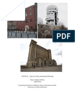 Planning - Urban Exploration and Dereliction